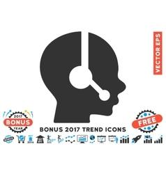 Operator Flat Icon With 2017 Bonus Trend vector image