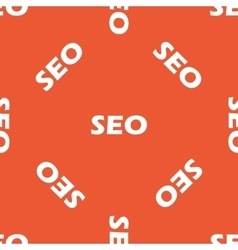 Orange SEO pattern vector image