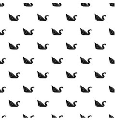 origami swan pattern seamless vector image