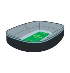 Oval footbal stadium icon vector image