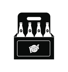Packaging with beer icon vector image