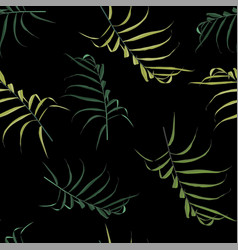 palm green leaves on theblack background vector image