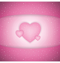 Pink Valentines Day background vector image