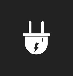 plug icon power wire cable flat vector image