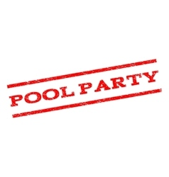 Pool Party Watermark Stamp vector