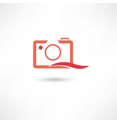 Red line camera vector image