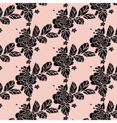Rose pattern background texture vector image