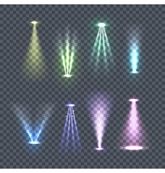 Set spotlights color rays vector