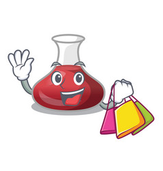 Shopping delicious red wine with cartoon decanter vector