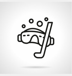 Snorkeling simple line icon vector