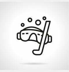 Snorkeling simple line icon vector