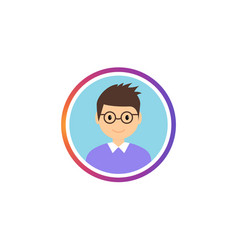 social avatar stories gradient frame vector image