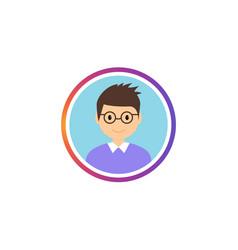 Social avatar stories gradient frame vector
