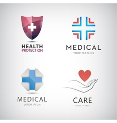 St of medical cross health protection vector