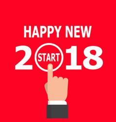 start new year 2018 idea vector image