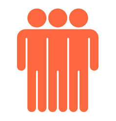 Three man sign people icon vector