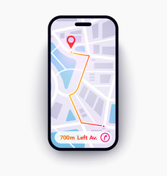 Trendy infographic city map navigation mobile app vector