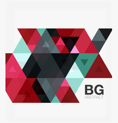 Triangle modern mosaic geometric template vector