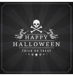 Vintage Happy Halloween Typographic Design vector