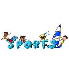 Word design for the word sports vector