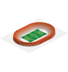 abstract 3d stadium vector image