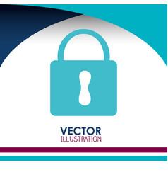 padlock icon desig vector image vector image