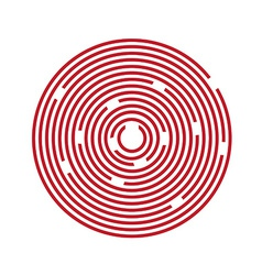 Red maze puzzle vector image vector image
