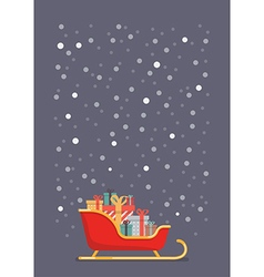 Santa sleigh containing a full of presents vector image vector image