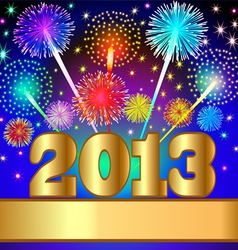 2013 new year background vector image