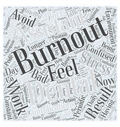 Avoid burnout as a dental assistant word cloud vector