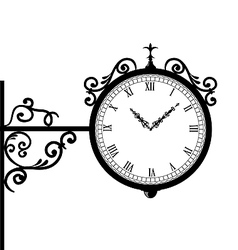 Forging retro clock with vignette arrows vector image vector image