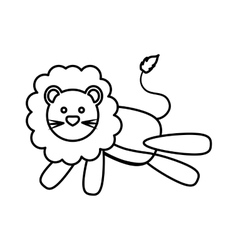 lion icon Animal design graphic vector image
