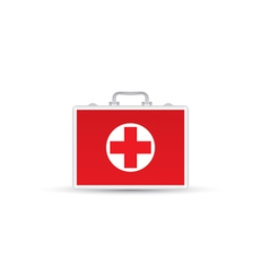 Red First Aid kit Isolated on white background vector image