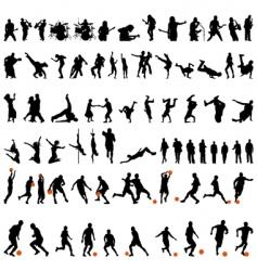 Dance and sport set vector