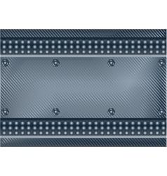 dark metal plate vector image