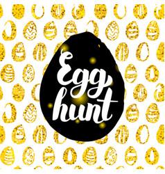 egg hunt postcard design vector image vector image