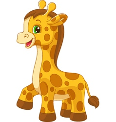 Little giraffe toy vector