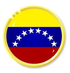 button with flag Venezuela vector image vector image