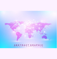 Political world map geometric graphic background vector