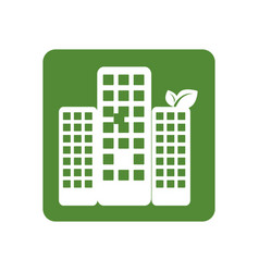 square frame with ecology city vector image