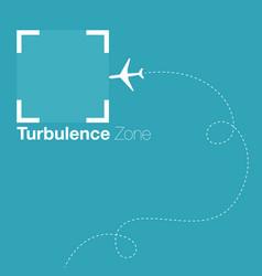 turbulence zone vector image vector image