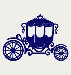 Vintage carriage vector image vector image
