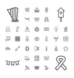 37 decorative icons vector image