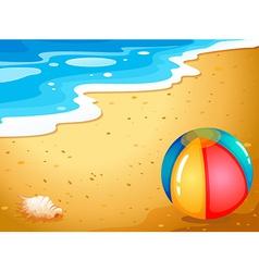 A ball at the beach vector