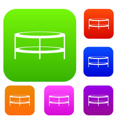 a round coffee table set collection vector image