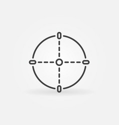 aim or crosshair linear icon target line vector image