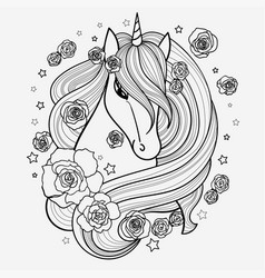 black and white hand drawn vector image