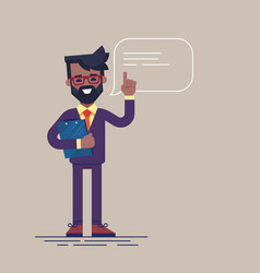 Black man raising up his finger to give advice vector
