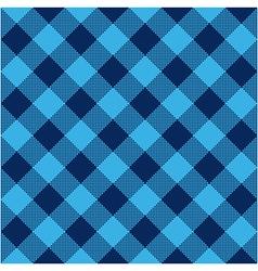 Blue check diagonal textile seamless pattern vector