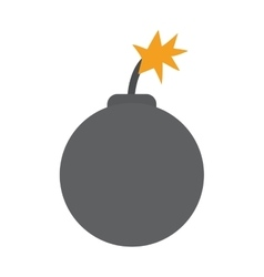 boom danger isolated icon vector image